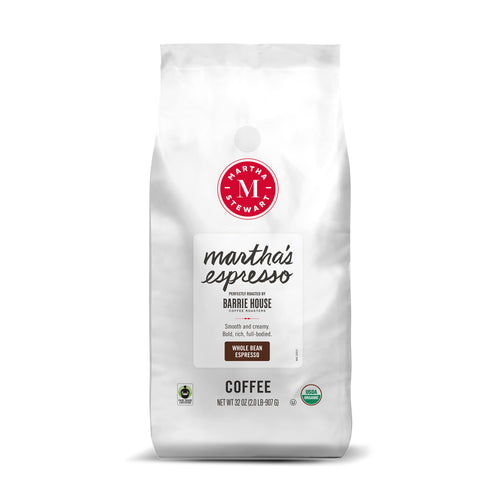 Martha's Espresso<br>Fair Trade Organic Coffee<br>2 lb Bag - Whole Bean