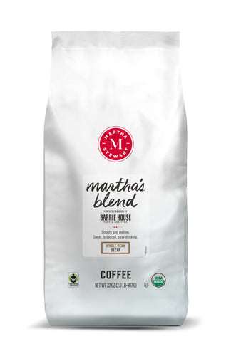 Martha's Blend<br>Fair Trade Organic Coffee<br>2 lb Bag - Decaf Whole Bean