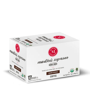 Martha's Espresso<br>Single Serve Capsules<br>10 ct