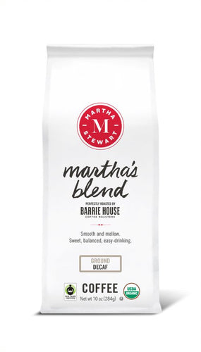 Martha's Blend<br>Fair Trade Organic Coffee<br>10 oz Bag - Decaf Ground