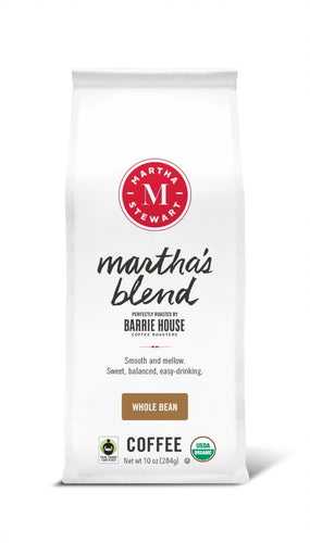 Martha's Blend<br>Fair Trade Organic Coffee<br>10 oz Bag - Whole Bean