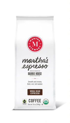 Martha's Espresso<br>Fair Trade Organic Coffee<br>10 oz Bag - Whole Bean