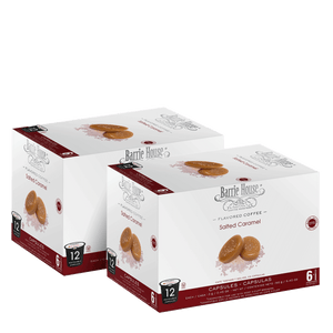 Salted Caramel<br>Flavored Coffee<br>2 Pack / 12ct Capsules