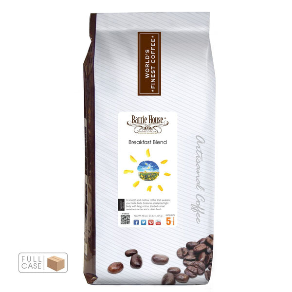 Barrie House Breakfast Blend Whole Bean Coffee 6/2.5 lb