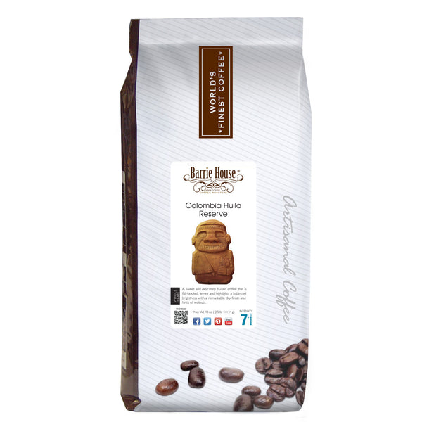 Barrie House Colombia Huila Reserve 2.5 lb Whole Bean