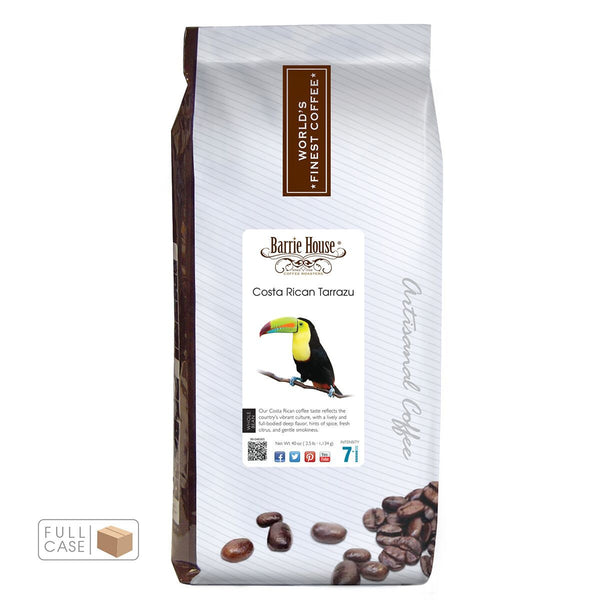 Barrie House Costa Rican Tarrazu Whole Bean Coffee 6/2.5 lb