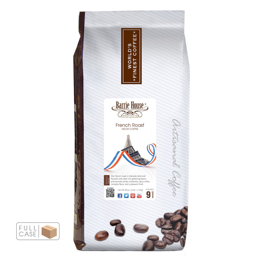 Barrie House French Roast Decaf Whole Bean Coffee 6/2.5 lb