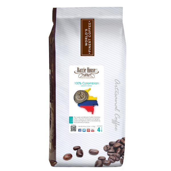 Barrie House Colombian Supremo Decaf 2.5 lb Whole Bean