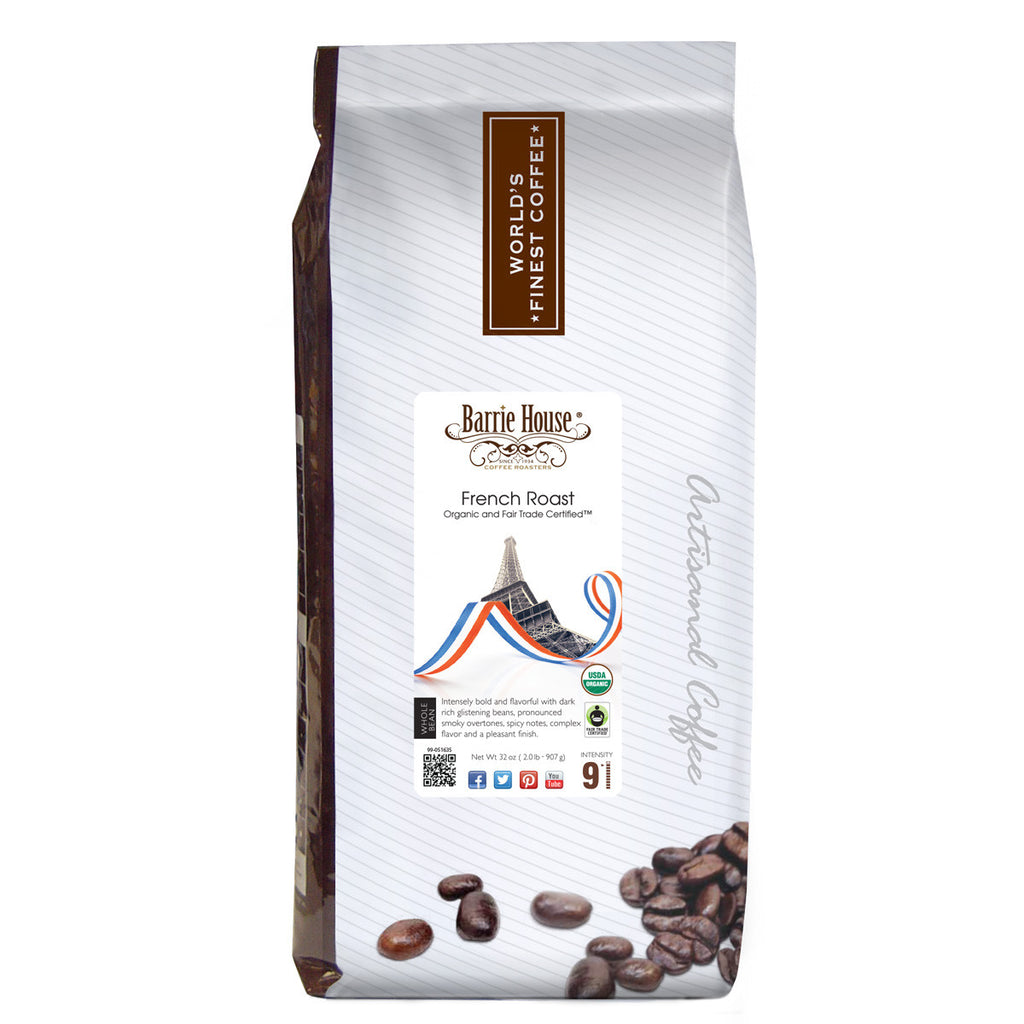 Barrie House Fair Trade Organic French Roast 6/2 lb