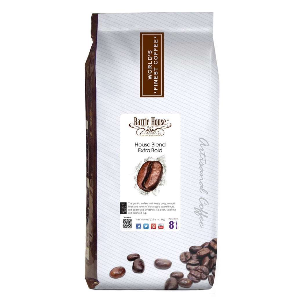 Barrie House Blend Extra Bold 2.5 lb Whole Bean