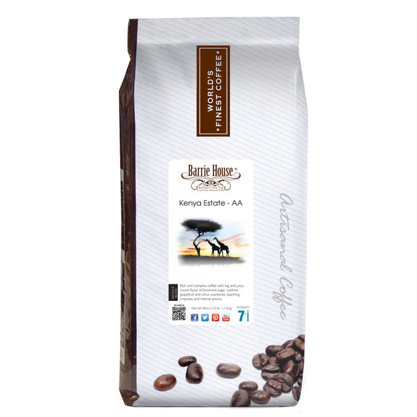 Barrie House Kenya Estate-AA 2.5 lb Whole Bean