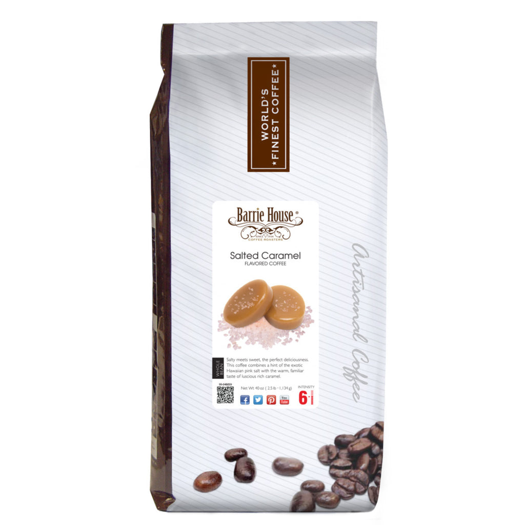 Barrie House Salted Caramel 2.5 lb Whole Bean coffee