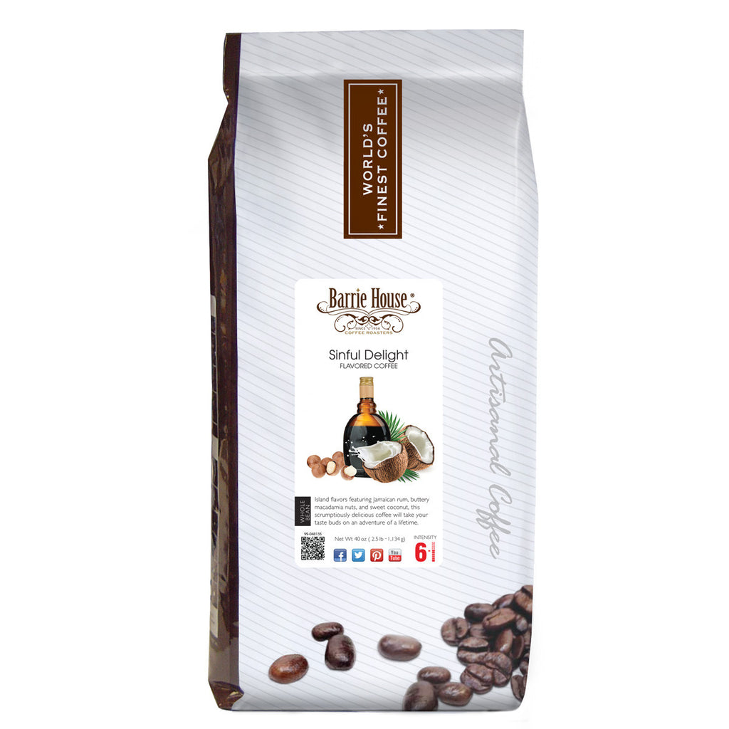 Barrie House Sinful Delight 2.5 lb Whole Bean coffee