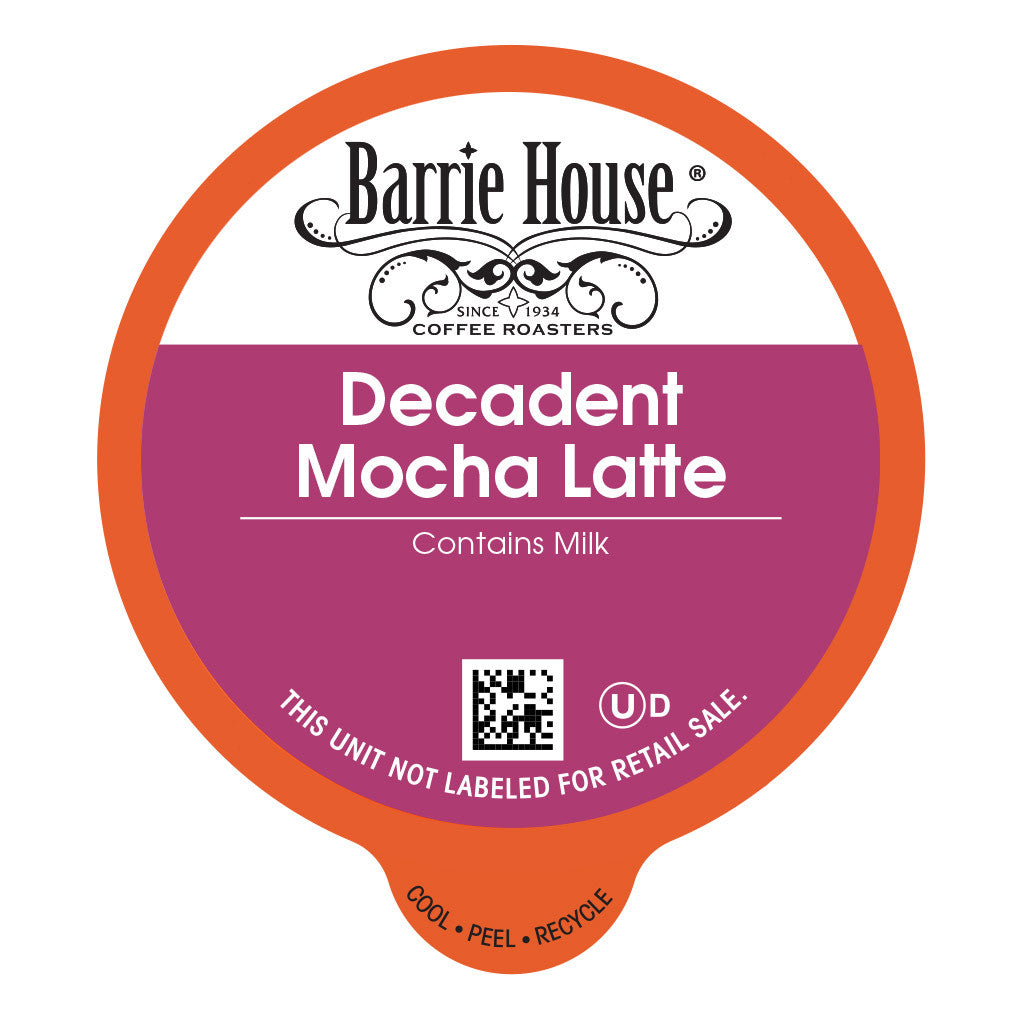 Barrie House Decadent Mocha Latte Capsules 24 ct K-cups