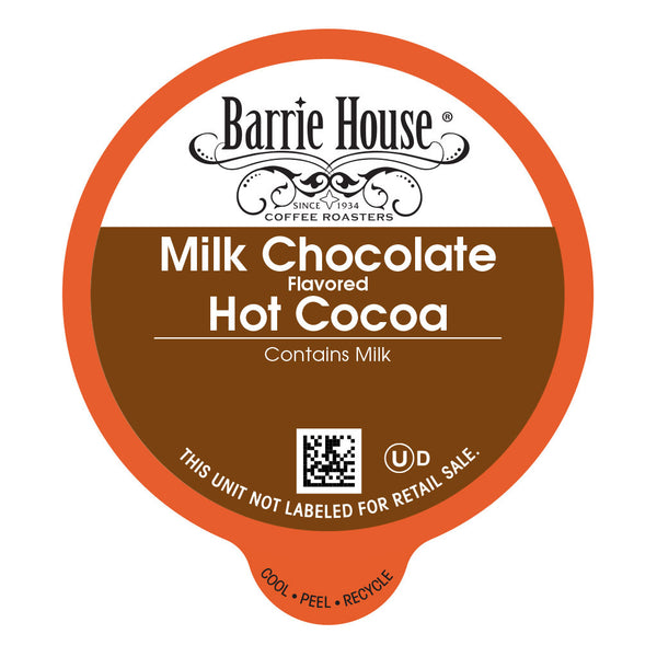 Barrie House Milk Chocolate Hot Cocoa Capsules 24 ct K-cups