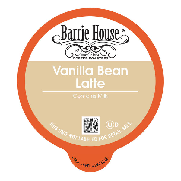 Barrie House Vanilla Bean Latte Capsules 24 ct k-cups