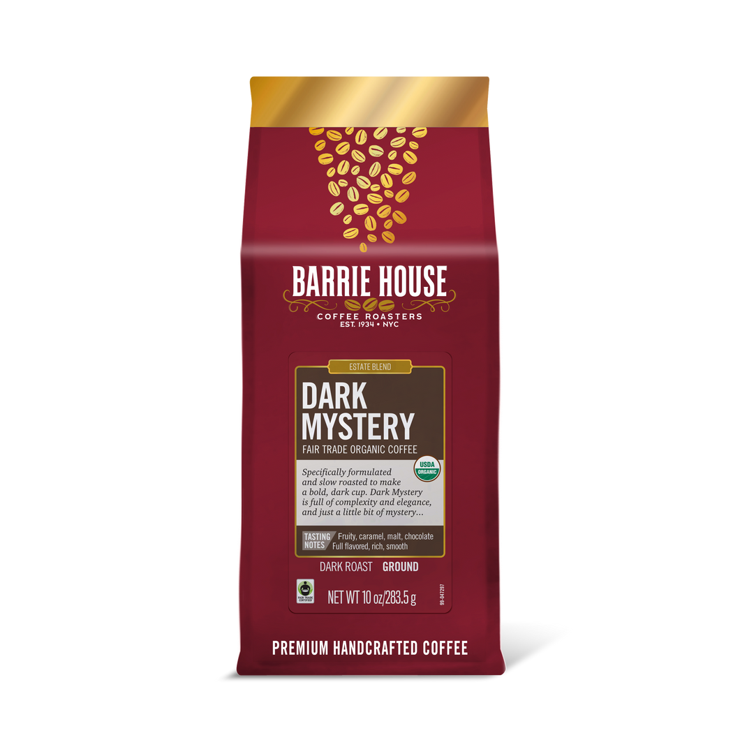 Dark Mystery<br>Fair Trade Organic Coffee<br>10 oz Bag - Ground