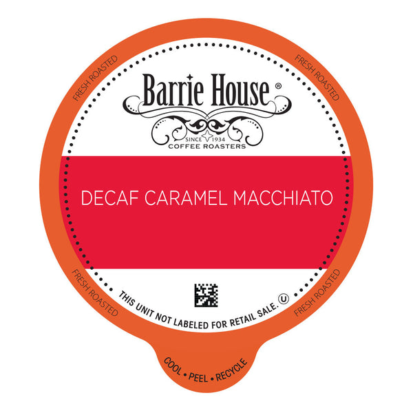Barrie House Decaf Caramel Macchiato Value Pack Capsules 80 ct k-cups