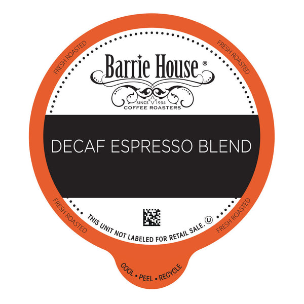 Barrie House Decaf Espresso Blend Value Pack Capsules 80 ct k-cups