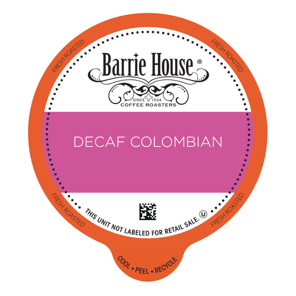 Barrie House Decaf Colombian Value Pack Capsules 80 ct k-cups