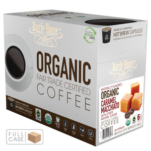 Barrie House Fair Trade Organic Caramel Macchiato Single Serve Capsules 4/24 ct