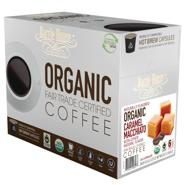 Barrie House Fair Trade Organic Caramel Macchiato Single Serve Capsules 24 ct