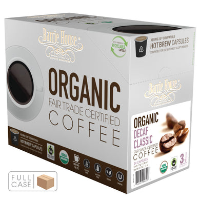 Barrie House Fair Trade Organic Decaf Classic Single Serve Capsules 4/24 ct k-cups