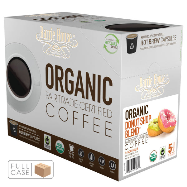 Barrie House Fair Trade Organic Donut Shop Single Serve Capsules 4/24 ct