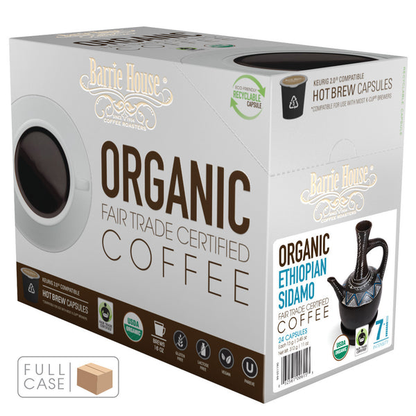 Barrie House Fair Trade Organic Ethiopian Sidamo-DP Single Serve Capsules 4/24 ct