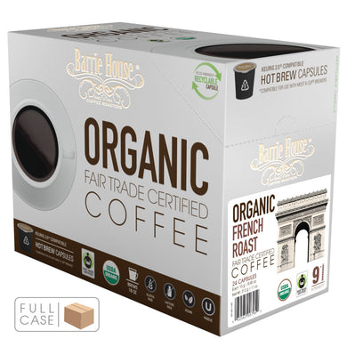 Barrie House Fair Trade Organic French Roast Single Serve Capsules 4/24 ct