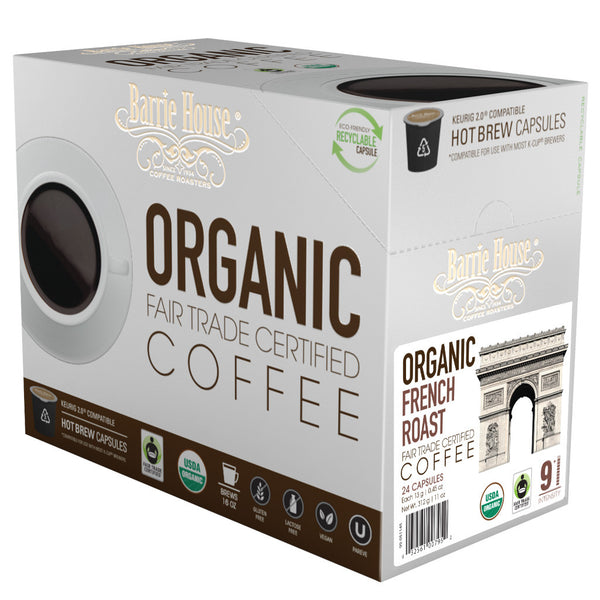 Barrie House Fair Trade Organic French Roast Single Serve Capsules 24 ct
