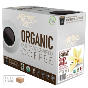 Barrie House Fair Trade Organic French Vanilla Single Serve Capsules 4/24 ct