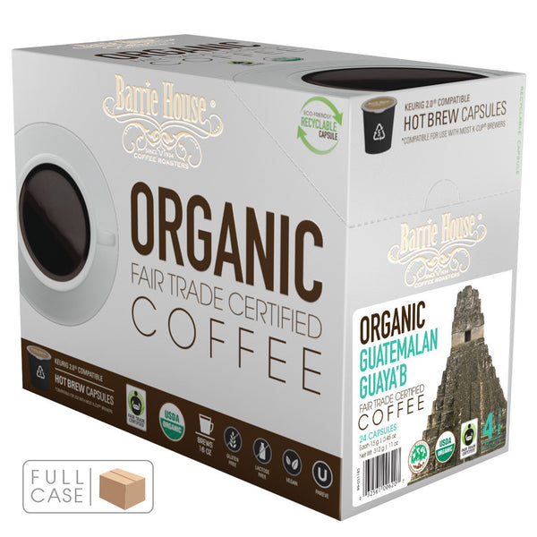 Barrie House Smithsonian Bird Friendly Fair Trade Organic Guatemala Guaya'b Single Serve Capsules 4/24 ct k-cups
