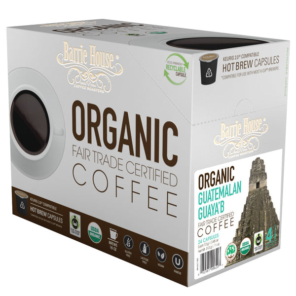 Barrie House SMBC, Fair Trade Organic Guatemala Guaya'b Single Capsules 24 ct kcups