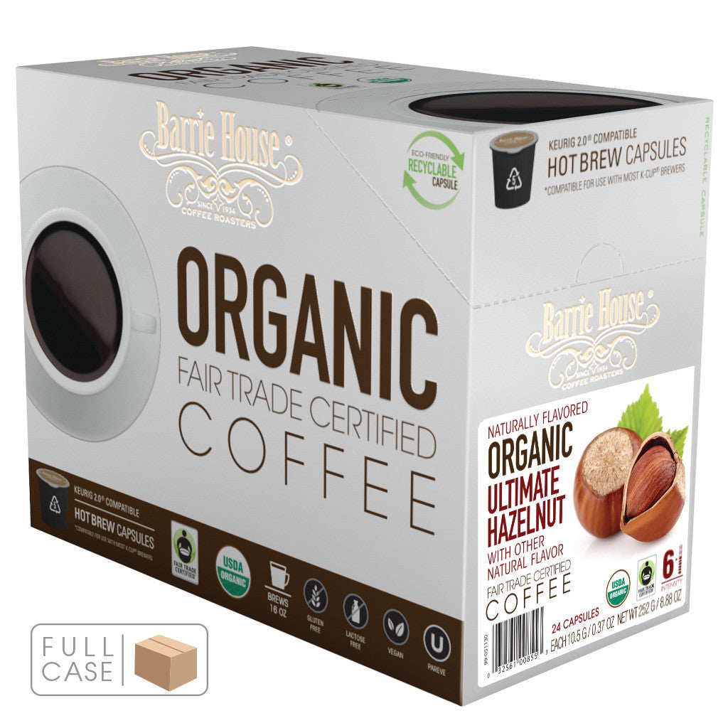 Barrie House Fair Trade Organic Ultimate Hazelnut Single Serve Capsules 4/24 ct