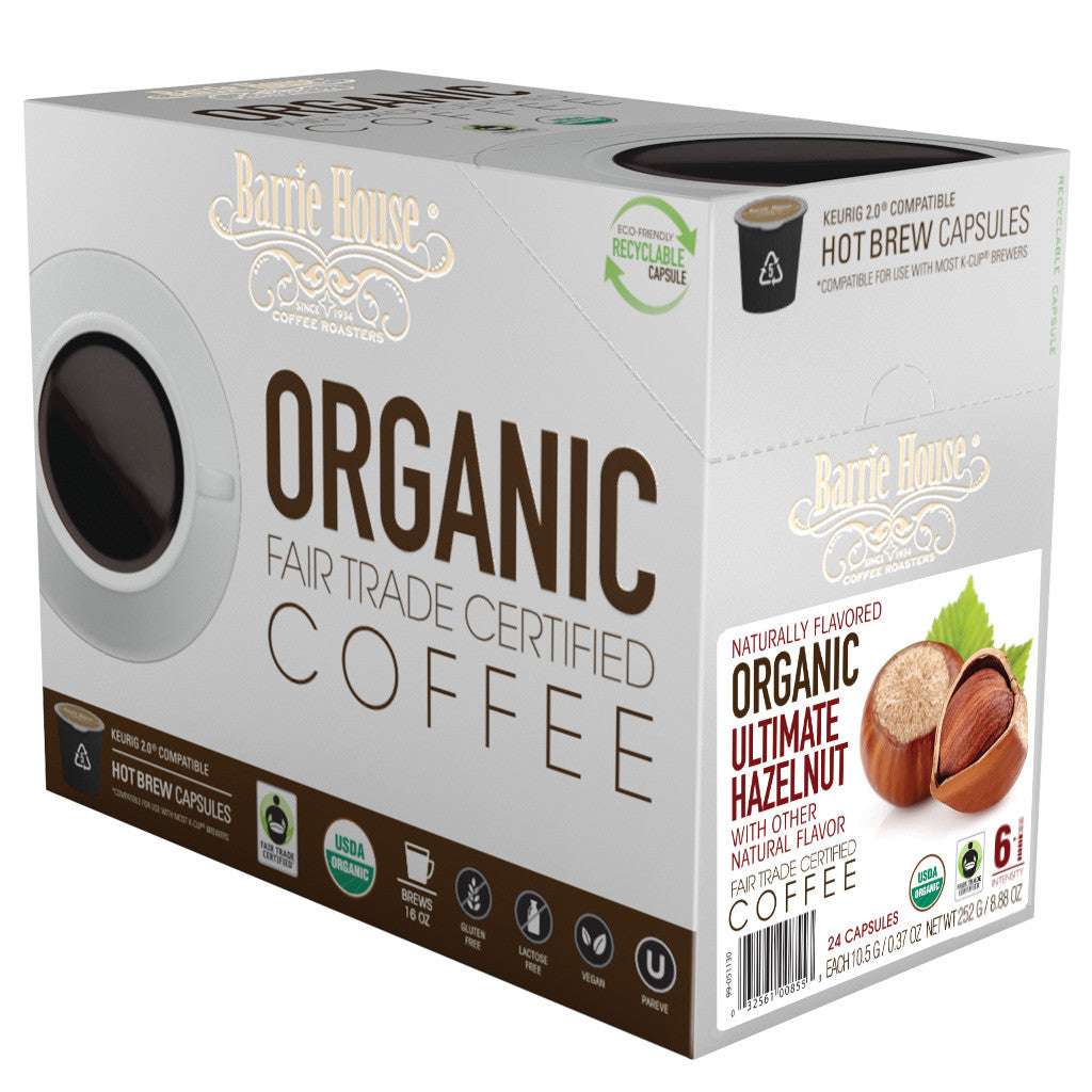Barrie House Fair Trade Organic Ultimate Hazelnut Single Serve Capsules 24 ct