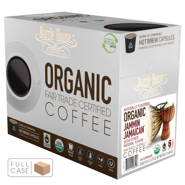Barrie House Fair Trade Organic Jammin Jamaican Single Serve Capsules 4/24 ct