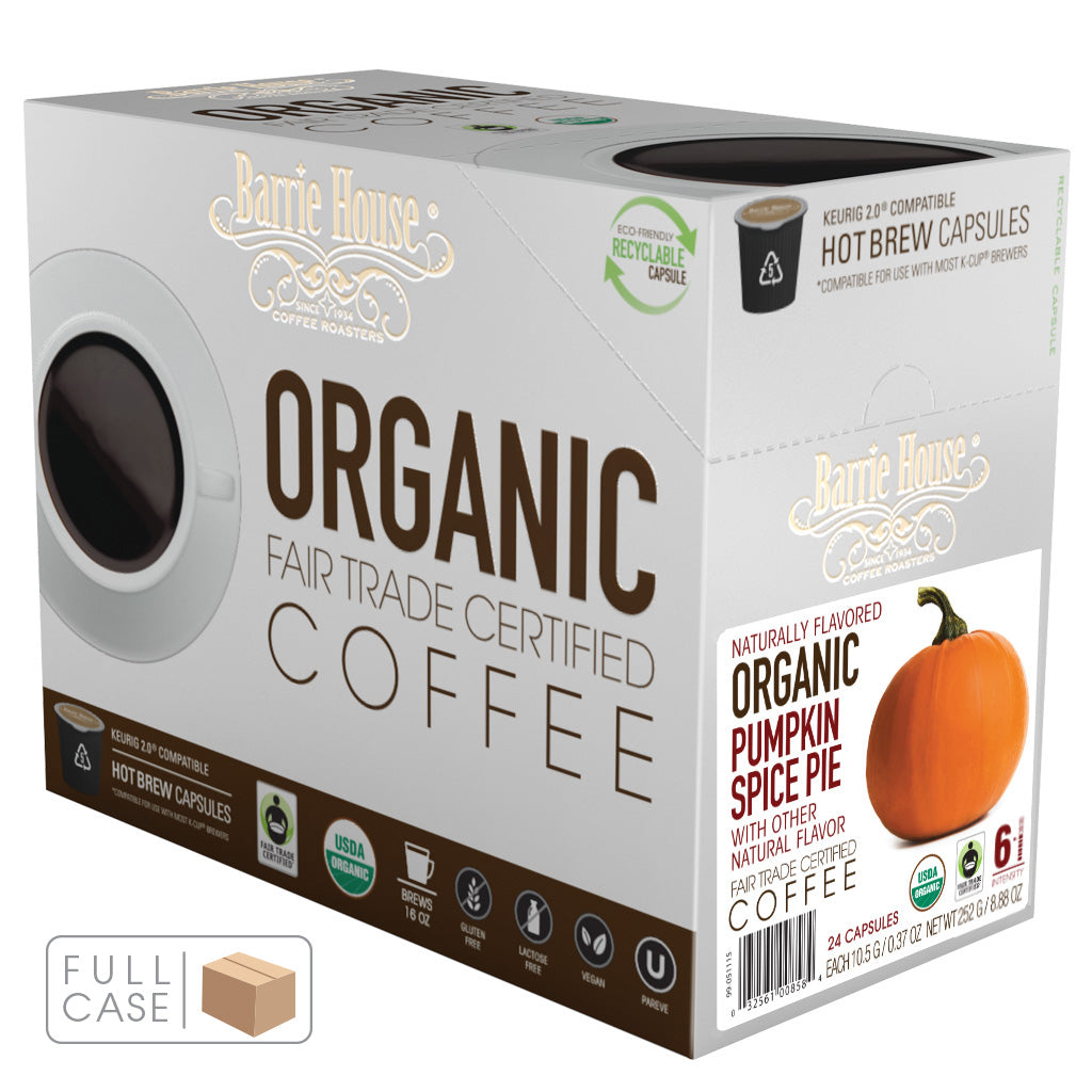 Barrie House Fair Trade Organic Pumpkin Spice Single Serve Capsules 4/24 ct k-cups