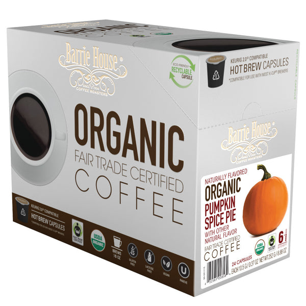 Barrie House Fair Trade Organic Pumpkin Spice Pie Single Serve Capsules 24 ct