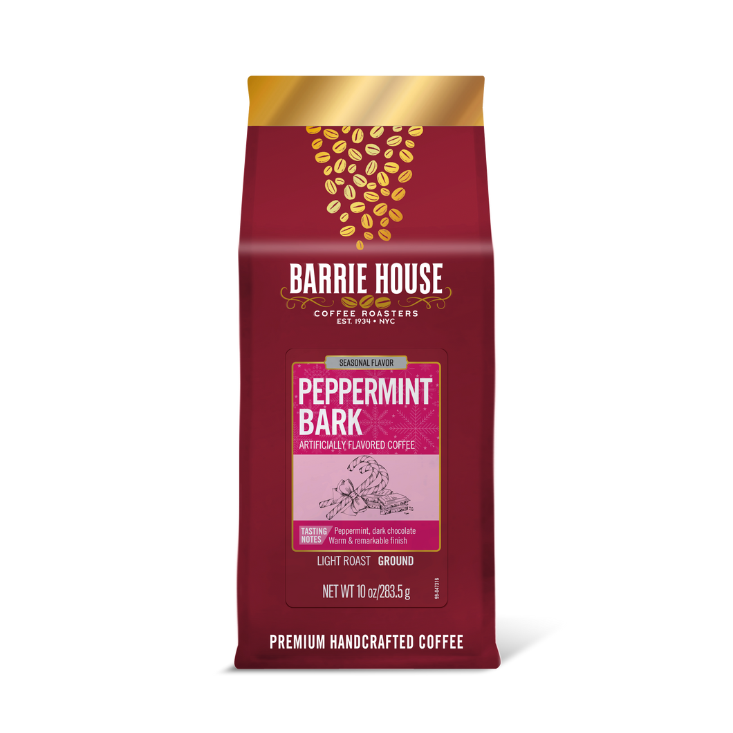Peppermint Bark<br> Flavored Coffee<br>10 oz Bag - Ground