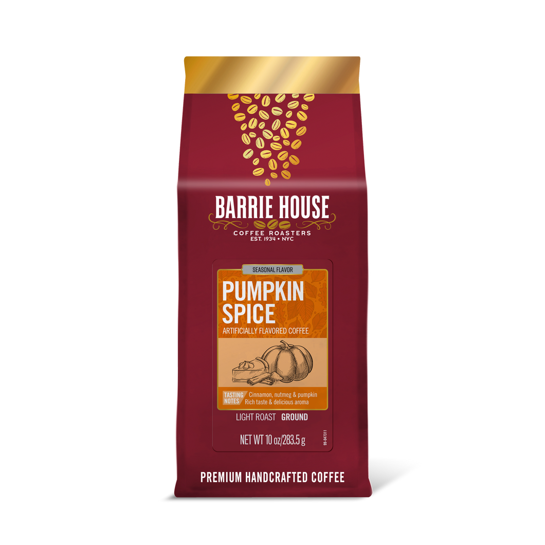Pumpkin Spice<br> Flavored Coffee<br>10 oz Bag - Ground