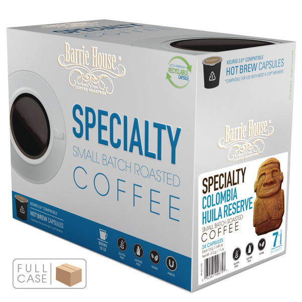 Barrie House Colombia Huila Reserve Single Serve Capsules 4/24 ct k-cups