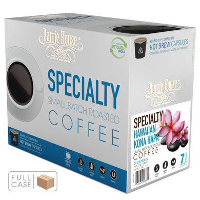 Barrie House Hawaiian Kona Hapa Single Serve Capsules 4/24 k-cups