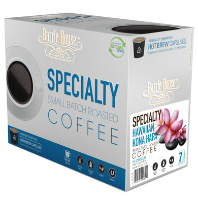 Barrie House Hawaiian Kona Hapa Single Serve Capsules 24 ct k-cups