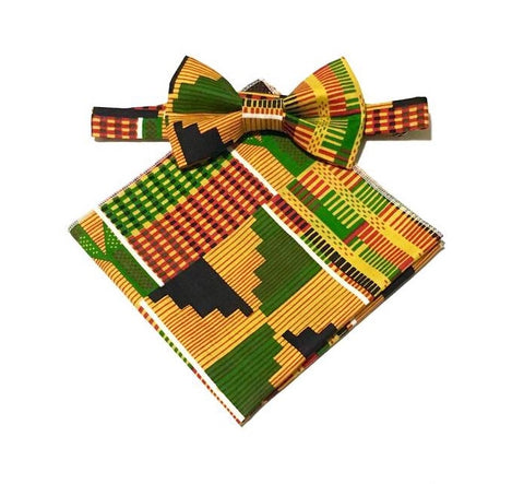 Kente Bow Tie & Pocket Square