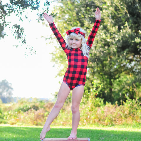 Red Buffalo Plaid Leotard