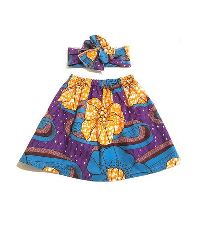 Ayana African Skirt and Head Wrap