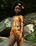 African Kente Leotard for girls.