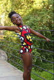 African print red Leo for girls