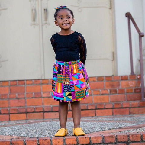 Purple Patch African Skirt Set